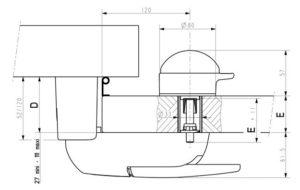 schéma de serrure de porte FERMOD 521 HP