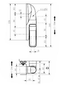 schéma de charnière FERMOD 1573 HP