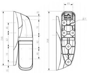 schéma de charnière FERMOD 1671 HP