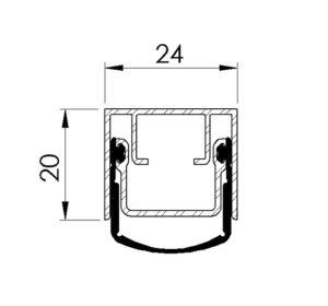 schéma plinthe automatique pour porte étanche battante