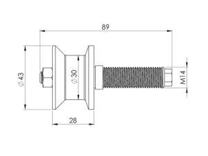schéma galet SPENLE pour porte étanche coulissante