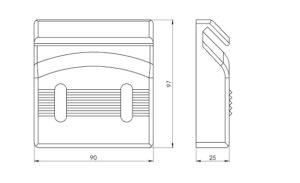 schéma guide ouverture de porte pour sol