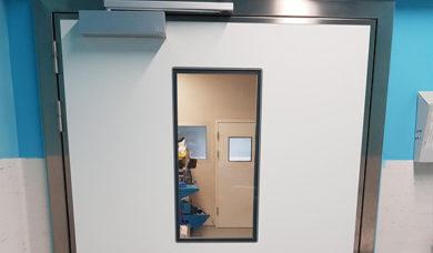 porte étanche à l'air SP250 dans un hôpital