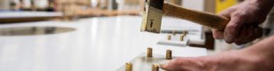 Portes pour les laboratoires alimentaires et portes protections pour l'industrie agroalimentaire fabrication d'une porte dans l'atelier SPENLE