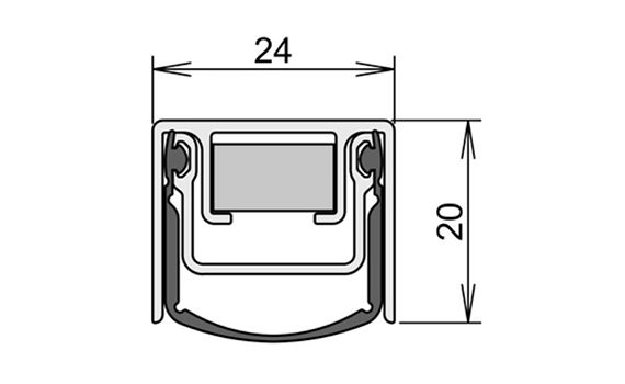 schéma porte battante étanche SP250
