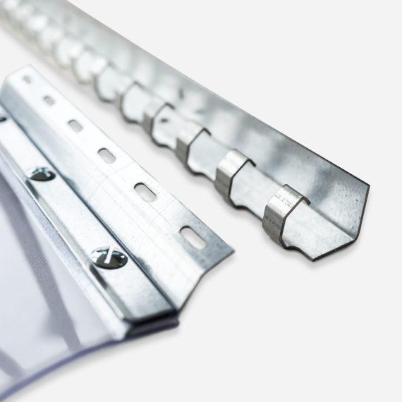 profil de fixation SPENLE D22 pour rideaux à lanières