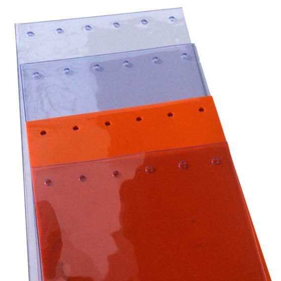 lanières en PVC souple prédécoupées et perforées