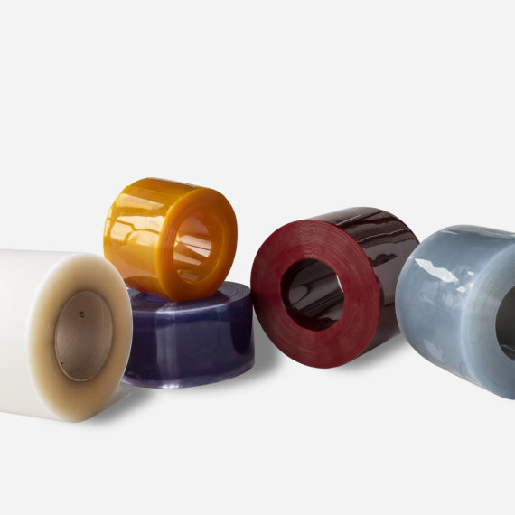 rouleaux de lanières en PVC souple technique