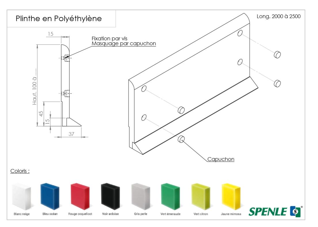 Sockelzeichnung aus Polyethylen ohne Absatz