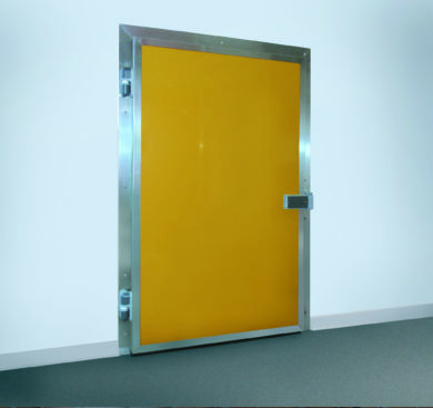 porte pivotante isotherme jaune SPENLE
