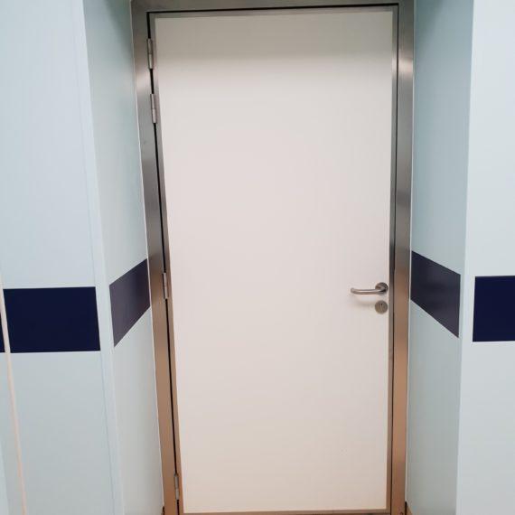 porte de service blanche semi-isotherme