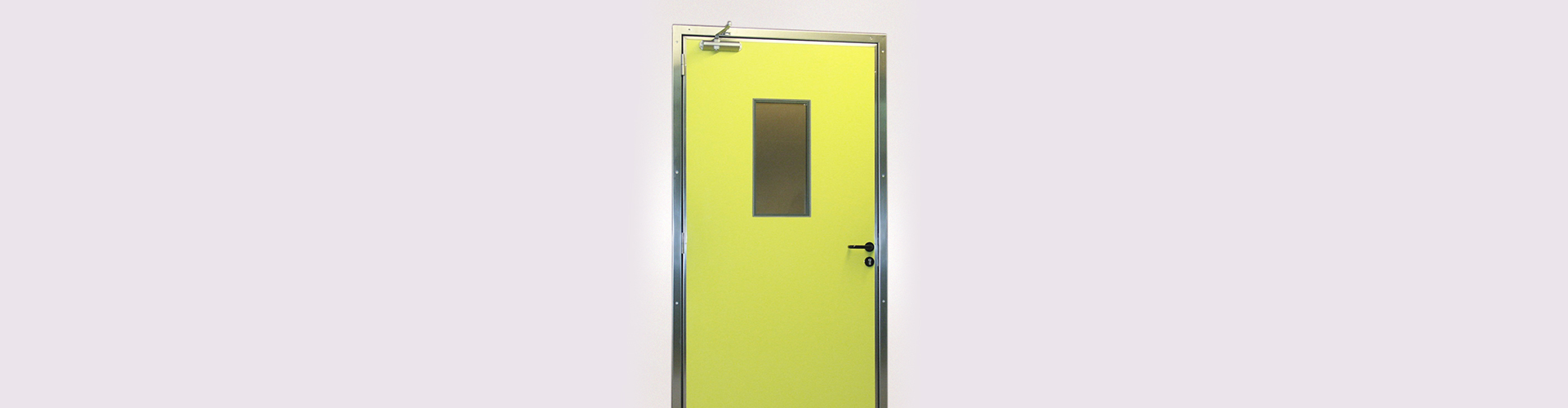 porte de service jaune semi-isotherme SPENLE