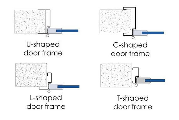 SP130 semi-insulated door fittings diagrams