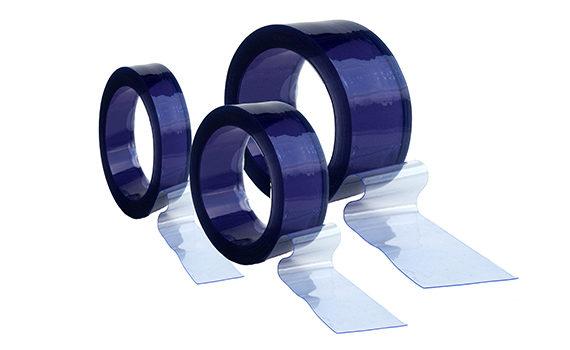 rouleaux de lanières en PVC souple transparent