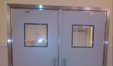 double porte étanche à l'air SP250 avec vitres