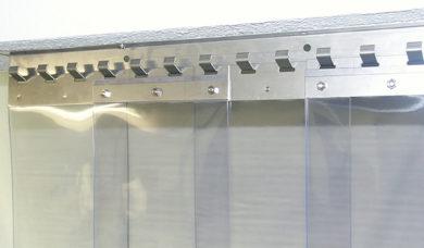 système de rideau à lanières PVC