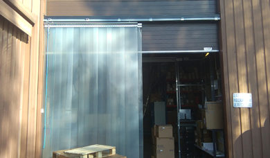 rideau à lanières en PVC souple secteur agroalimentaire