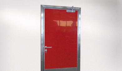 porte de service rouge Spenle