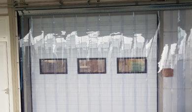 rideau à lanières transparentes en PVC souple L22