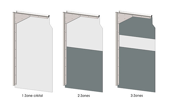 schémas de panneaux PVC pour porte à vantaux