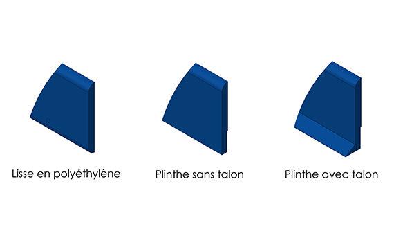 schémas de protections murales en polyéthylène