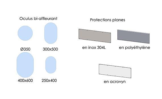 dessins des options pour portes en polyéthylène SP130