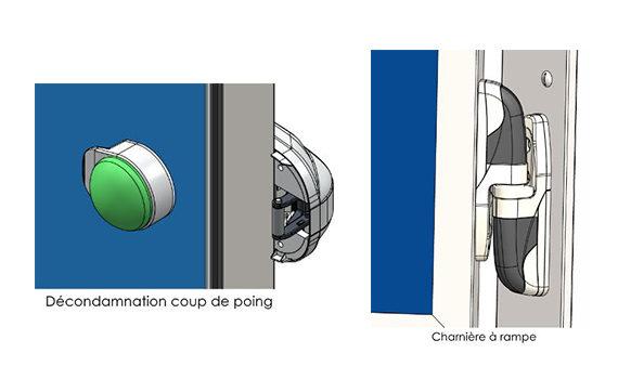 schéma vantail porte isotherme pivotante SP300