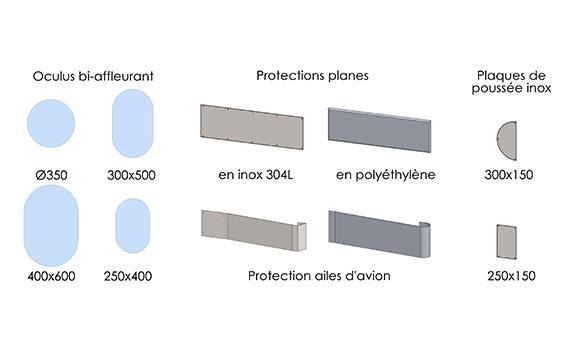 schéma options pour portes va-et-vient SP800
