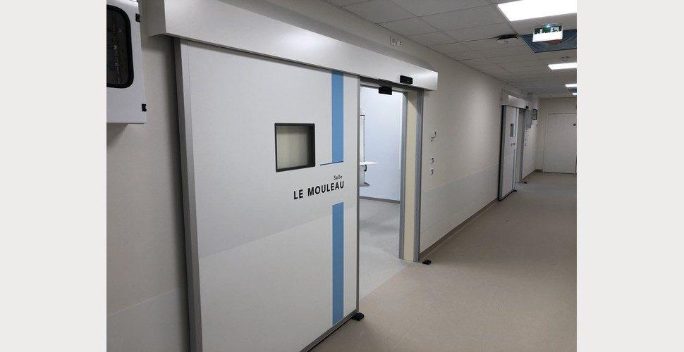 portes étanches et anti-X SPNELE dans un institut de cancérologie